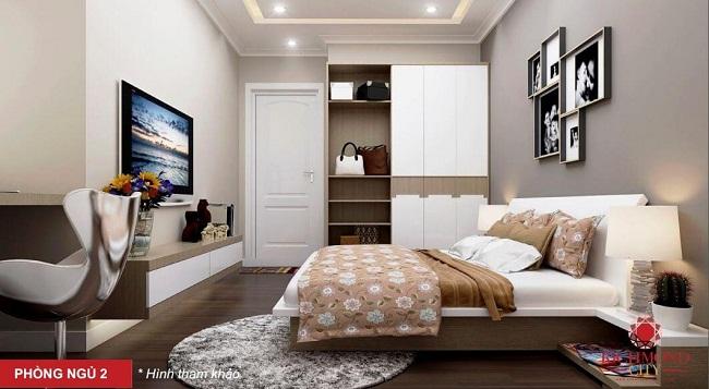 Phối cảnh phòng ngủ căn hộ Richmond City