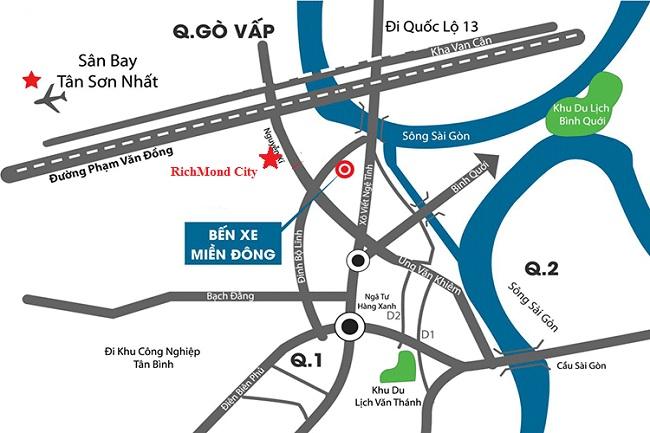 Căn hộ Richmond City Nguyễn Xí có vị trí đắc địa