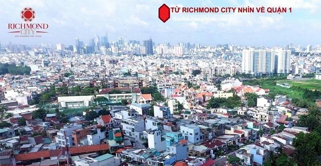view nhìn về quận 1 tại Căn hộ Richmond City