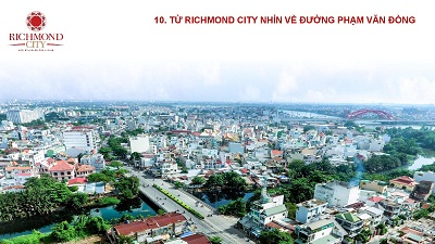 hướng view quận 1 của căn hộ richmond city