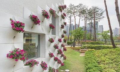Thiết kế vườn tường sáng tạ