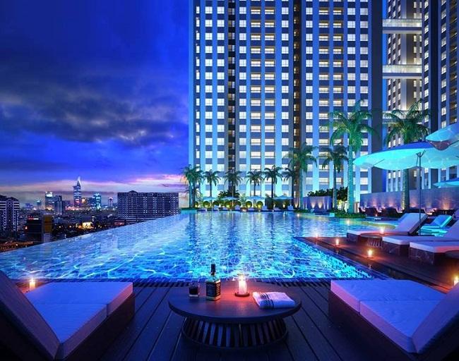 bể bơi tiện ích tại căn hộ richmond city