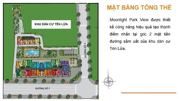 Mặt bằng tổng thể của Căn Hộ Moonlight Park View Bình Tân.
